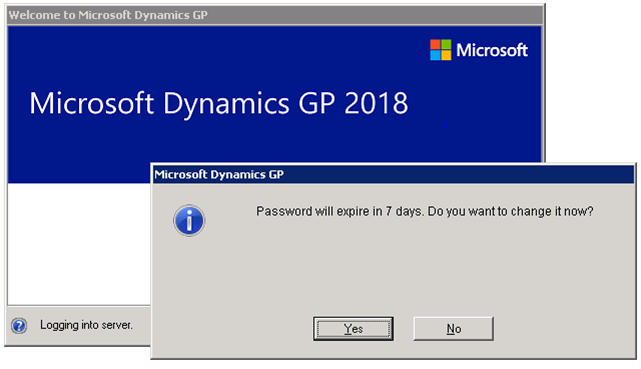 GP 2018 R2 Password Expiration Notices